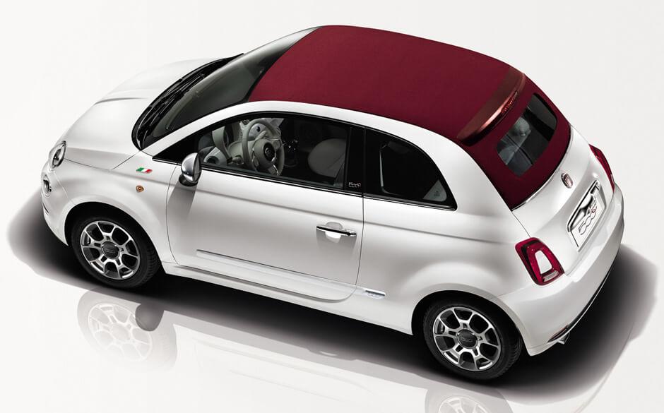 Fiat 500 Cabrio in promotion in Rome