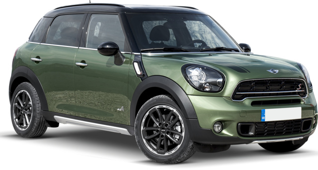 Mini CountryMan in promotion on Rome